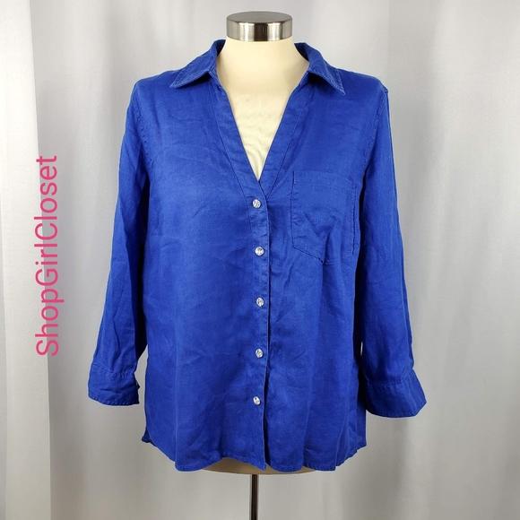 🆕️I.N.C Button Down Shirt - 100% Linen